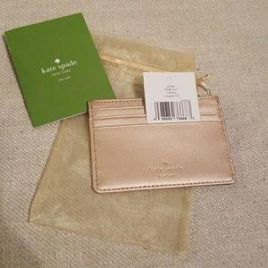 Kate Spade Wellesley Rosegold wallet- FREE gift!